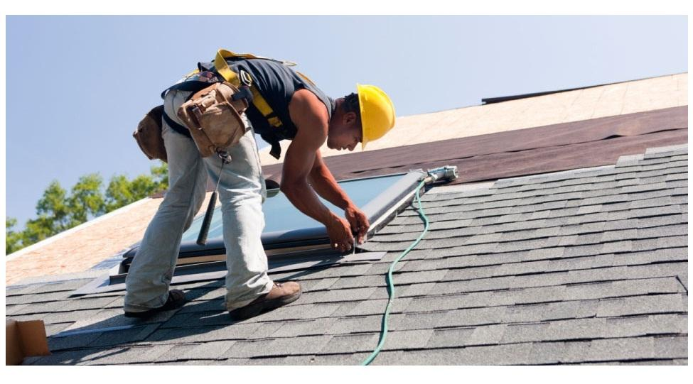 Roofing Contractor in Plano, TX on a roof